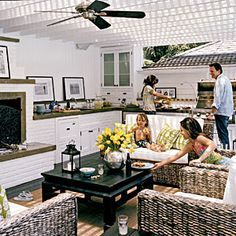 Ideas for...Outdoor Kitchens | Laid-back Dining | CoastalLiving.com