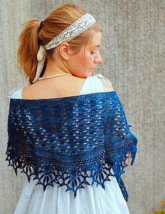 www.bekendkuloer.dk  Kornblomst shawl