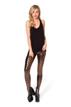 Mermaid Bronze Leggings › Black Milk Clothing