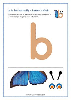 Printable English Worksheets, Letter B Worksheets, English Worksheets For Kindergarten, Preschool Kindergarten, Free Printables, Letter B Crafts, Letter B Activities, Preschool Activities, Letter Of The Week