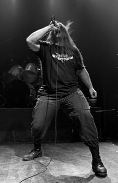 George Fisher of Cannibal Corpse.  lmao is that a dethklock shirt because that is just perfect!!
