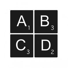 Lettres adhésives Scrabble