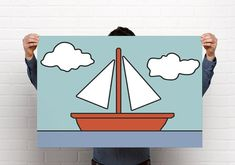 The Simpsons Living Room Famous Boat Picture // Simpsons Poster// simpsons Print// Amazing HD Detail //