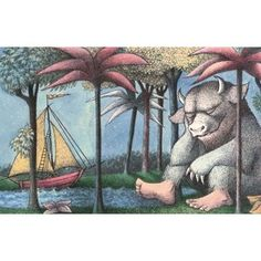 Canora Grey White Elegance 2.8m x 400cm Wallpaper & Reviews | Wayfair.co.uk Maurice Sendak, Best Children Books, Childrens Books, Cover Art, The Reader, Kids Reading Books, Baby Books, The Gruffalo, Quentin Blake