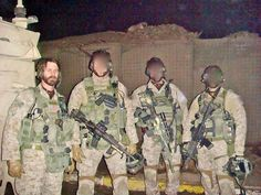 1st SFOD-D Tom Spooner with his pals in Iraq. [18001350]