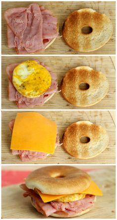 DIY Freezable Breakfast Sandwiches