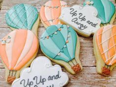 Love the colors for this order! Up, Up and away,... - Cookies by Kerri
