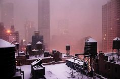 The first snow, Christophe Jacrot Christophe Jacrot, New York Snow, First Snow, Tumblr, My Ride, Water Tank, Life Goals, Paris France, City