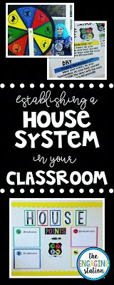 The Engaging Station: Establishing a House System in Your Classroom High School Classroom, Classroom Themes, Classroom Organization, Classroom Clipart, Ron Clark, Behavior System, Organization And Management, Class Management, Harry Potter Classroom