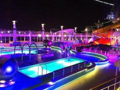 Norwegian Epic pool at night