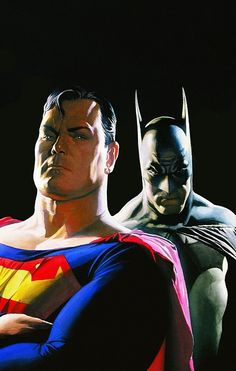 World's Finest (Batman and Superman, Alex Ross art) Comic Book Artists, Comic Book Heroes, Comic Artist, Comic Books Art, Alex Ross, Mundo Superman, Batman E Superman, Arte Dc Comics, Fun Comics