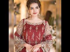 Designer party wear suit designing ideas/Party main pahenne wale Shaanda... Pakistani Party Wear Dresses, Pakistani Wedding Outfits, Wedding Dress Chiffon, Pakistani Bridal Dresses, Pakistani Wedding Dresses, Pakistani Dress Design, Shadi Dresses, Pakistani Designers, Pakistani Suits