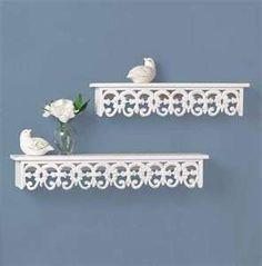 shabby chic shelves image selection | Building Designs and Furniture (i have those old black metal shelves)