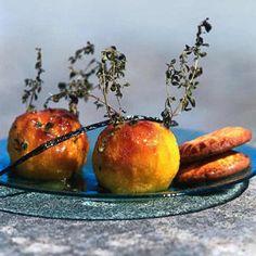 Pêches au thym citron