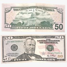 model: This 50 Dollar Bill is a high quality model that will enhance detail and realism to your rendering projects. The model has a fully textured design that allows for close-up renders, and was . 5 Dollar Bill, 100 Dollar, Money Template, Tag Templates, Printable Play Money, Personal Financial Statement, Passport Card, Money Notes, Legal Tender
