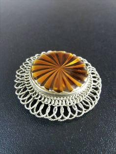 Hey, I found this really awesome Etsy listing at https://www.etsy.com/ru/listing/528355297/filigree-brooch-with-plastic-amber-tone