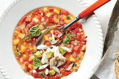 No Cook Recipes: Summer Gazpacho with Avocado West Indies Salad