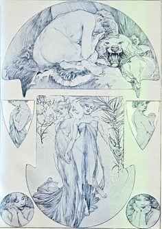 alphonse mucha RARITIES | Art Brutist - Alphonse Maria Mucha Figures Decoratives
