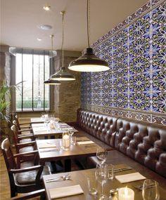 سرامیک_ Andalusian tile for restaurants