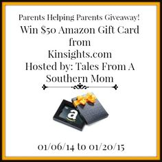 Giveaway Hosted by: Tales From A Southern Mom Sponsored by: Kinsights.com How many questions do you have everyday about raising your children? There is a whole community of people who are just like you, parents and full of questions. As we move through life we find that we learn things, and even if it is …