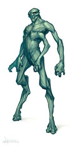 Ideas for alien concept art monsters demons Humanoid Creatures, Alien Creatures, Fantasy Creatures, Mythical Creatures, Alien Concept Art, Creature Concept Art, Aliens, Monster Design, Monster Art