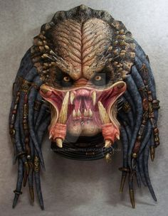Here is a lifesize elder predator head plaque that I painted. This sucker is huge!