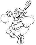 Coloring Page Super Mario