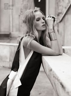 Asa Tallgard Shoots Eva Downey in Paris for Elle Romania's April 2013 Cover Shoot | Fashion Gone Rogue: The Latest in Editorials and Campaigns