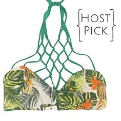 ✨HP✨San Lorenzo Pineapple Top ▪️Details: San Lorenzo Bikini Top with Caged Neckline Detail Bathing Suit Swim Beach Top              ▪️Size: M, Stretchy Can Fit Most Busts Depending on How Much Coverage You Want ▪️Reversible Pineapple to Green                                                                  📍Ships from Los Angeles, CA                              📪 Ships within 1-2 business days San Lorenzo Swim Bikinis