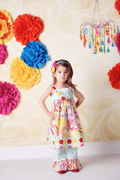 Spring Knot Dress in Carnival Ride by CharmingNecessities on Etsy, $44.95