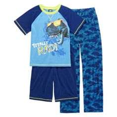 Jelli Fish Kids 3-pc. Totally Rad Pajama Set - Boys 4-16  found at @JCPenney