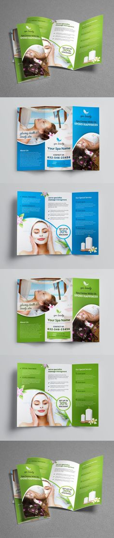 Spa Brochure Design Spa  Massage Menu ideas Pinterest - spa brochure