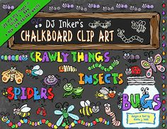 Our lively 'Chalkboard Bugs' clip art will make you antsy to start creating!  Buy now for 20% savings!  On sale through Feb. 18, 2015.