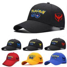 f11e64ea93453 Pokemon Go Baseball Cap Team Mystic InstInct Valor Cosplay Anime Hat  snapback New Pokemon