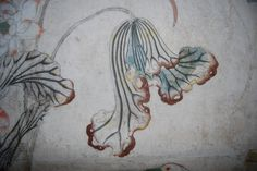 Detail of a lotus leaf in the Chinese wallpaper at Felbrigg Hall. Chinese Wallpaper, Maritime Museum, National Trust, Chinoiserie, Painted Furniture, Art Reference, Lotus, Detail, Koi