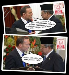 The Prime Minister is happy to report that Australia/Indonesia relations are at their all-time best | Community Post: 10 Postcard-Worthy Moments From Abbott's Trip Abroad