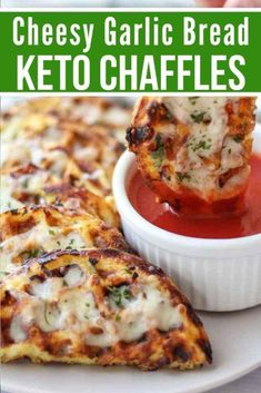 Easy Keto Cheesy Garlic Chaffle Bread will satisfy your cravings for an Italian style bread that can be enjoyed as a side or appetizer. The mouthwatering cheesy garlic goodness on a delicious crunchy chaffle come together to make the best keto garlic Low Carb Sauces, Low Carb Recipes, Diet Recipes, Recipes Dinner, Ketogenic Recipes, Soup Recipes, Paleo Keto Recipes, Cheap Recipes, Paleo Vegan