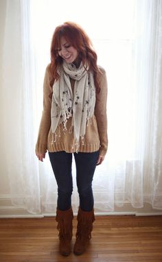 DIY Constellations Scarf from abeautifulmess.com. What a cute scarf and a great, simple idea!