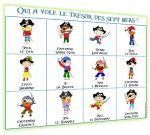 Jeu sur les pirates à imprimer pour chaque élève ou pour le TBI, en grand groupe?