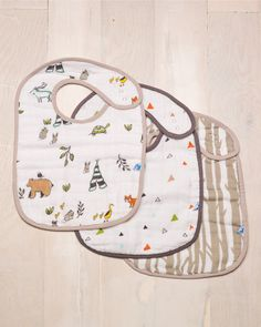 Cotton Muslin Classic Bib - Forest Friends - Pre-order now!