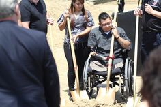 Juan Dominguez and his fiancee break ground on their new home in Temecula.