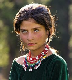 Portrait of a local girl in Naraan Valley.  Pakistan