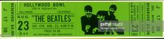 A 1970's re-creation by Capitol Records of a ticket for a concert by the rock and roll band 'The Beatles' at the Hollywood Bowl on August 23, 1964 in Los Angeles, California. Please note that the date of Saturday was a mistake and the actual concert was on Sunday.