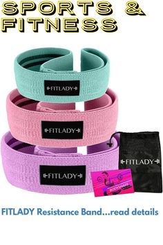 FITLADY Resistance Band Exercise Bands, Fitness, Accessories, Fashion, Moda, La Mode, Fasion, Excercise, Health Fitness