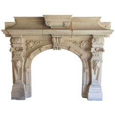 An Impressive Early 19th Century Fireplace In Natural Limestone. England.