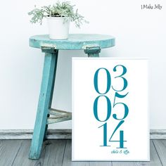 Date Stack • Custom Design • by I Make Jelly
