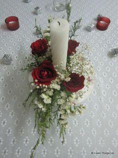Live flower #Christmas center piece