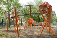 Like us on  Facebook   www.familytc.com   This unusual playground is built next to Sloterplas lake in Amsterdam.  Everything is surrounded ...