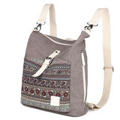 Cheap Folk Ladies Canvas Backpack Totem Women Rucksack National School Bag For Big Sale! Girl Backpacks, School Backpacks, Canvas Backpacks, Travel Backpack, Fashion Backpack, National School, Unique Bags, Book Girl, Everyday Bag