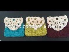 How to crochet a wallet (easy) - YouTube